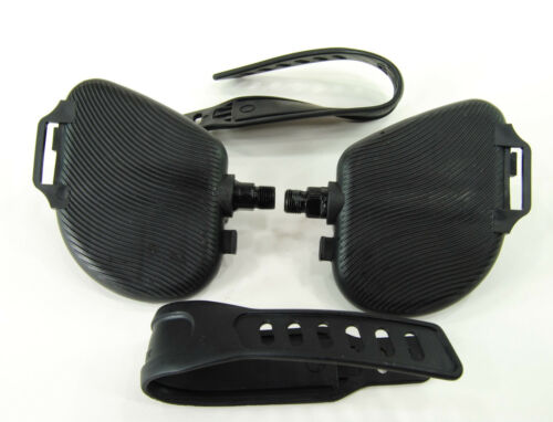 """EVO Exercise Bike Replacement Pedals 1//2/"""" Stationary Bicycle Pedal Set w// Strap"""