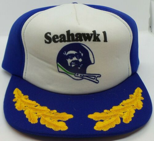 "vtg seattle seahawks ""SEAHAWK 1"" snapback hat - i6"