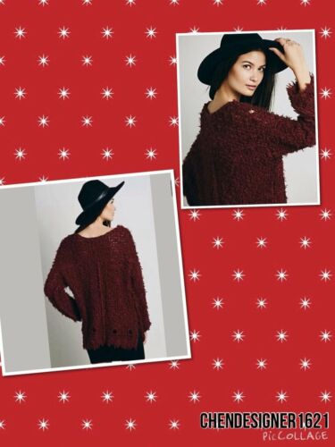 ivoey,black,wine,navy Free People XS-M Polar Bear Over size pull on sweater top