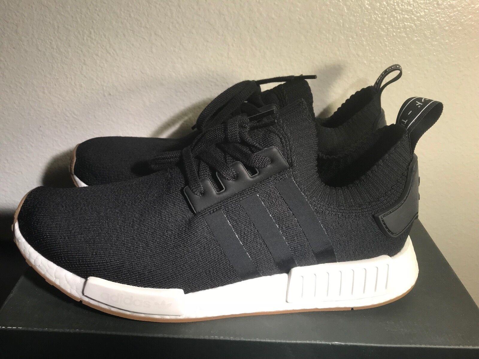Adidas Orignals NMD_R1 PK BY1887 Men Size 13 Black Gum Primeknit DS Authentic