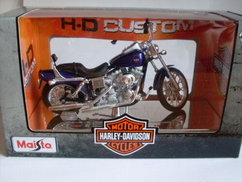 2001 FXDWG Dyna Wide Glide 34 Harley Davidson Modell Maisto Motorrad 1:18