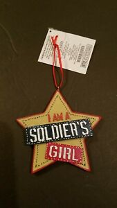 NEW-MILITARY-ARMOR-VETERAN-STAR-I-AM-A-SOLDIER-039-S-GIRL-CHRISTMAS-ornament