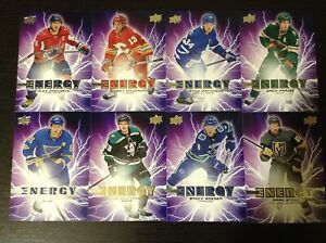 2019-20-Upper-Deck-Series-1-Pure-Energy-lot-of-8-Cards