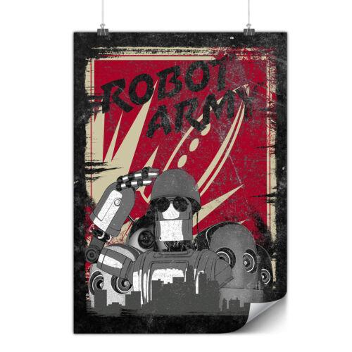 Army Funny Robot Geek Matte//Glossy PosterWellcoda