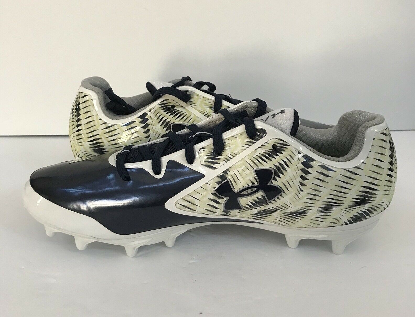UA Cleats Nitro Niedrig MC Football Cleats UA Weiß/Mdn #1258018-142  Uomo 8.5 c6a3b7