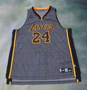 Adidas NBA Los Angeles Lakers Kobe Bryant #24 Black Mamba Jersey ...