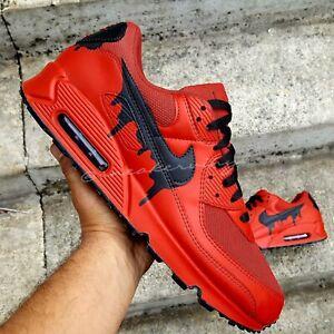 Air Max 90 RED Black DRIP Custom Nike