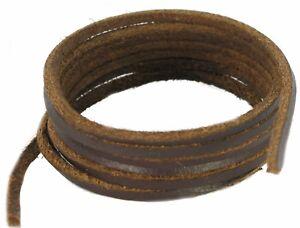 Schuh und Stiefel Schnürsenkel - dunkelbraunes Leder Größe 45-300 cm