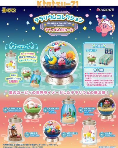 Re-ment Kirby Terrarium Collection DX Memories Miniature Figure Full set 6 types