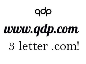 QDP .COM For Sale! PREMIUM DOMAIN NAME!  7 YEARS OLD BRANDABLE 3 LETTER dot com