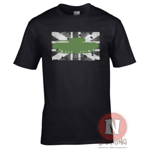 Churchill tank t-shirt patriotic nostalgia WWII d-day military British World of