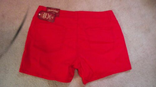 """Women Faded Glory Stretch Arctic Red Chino Short*Inseam 4.5/"""" You Choose Size!"""