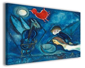 Quadri famosi moderni Marc Chagall vol IX stampa su tela canvas ...