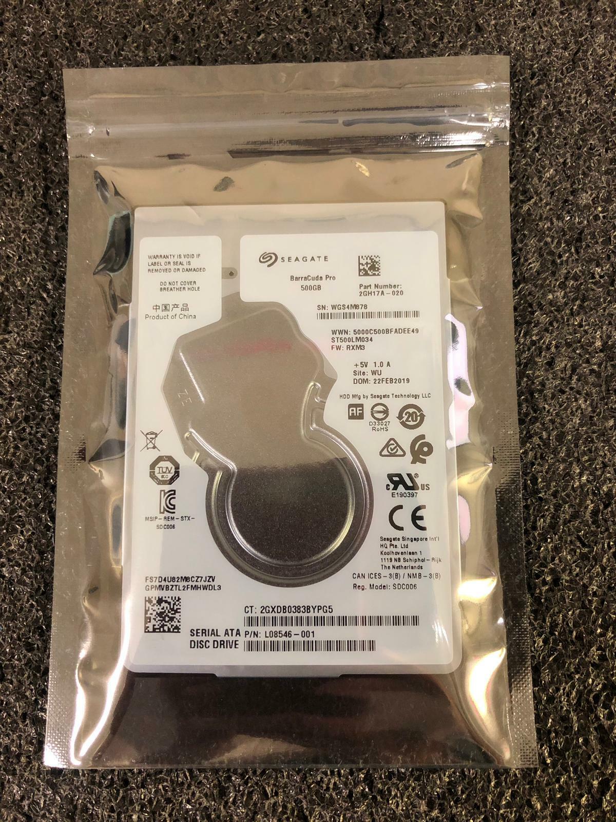 """Seagate ST500LM034 500GB 7200RPM 6Gb/s 2.5"""" SATA Internal Hard Drive"""