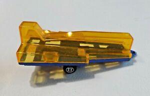 Vintage-Majorette-Covered-Glider-Trailer-Plastic-amp-Diecast-Blue-NO-Glider-France