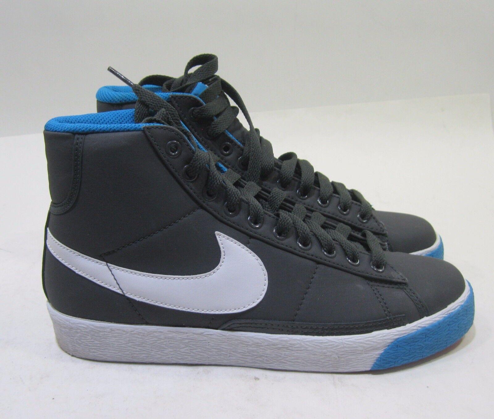 Nike Damenschuhe Blazer High Anthracite/WEISS-Blau Liquor-ROT 317808-016 Größe 8
