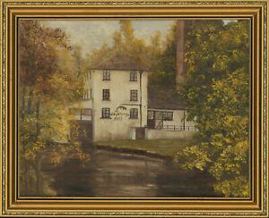 Barbara-Nicholson-Signed-amp-Framed-20th-Century-Oil-Claythorpe-Mill