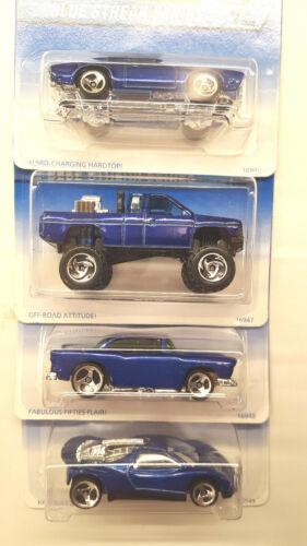BLUE STREAK SERIES ~ Hot Wheels ~ Complete Set 1 to 4