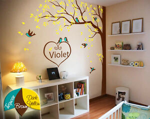 Image Is Loading Nursery Wall Tree Decoration Artistic Decals