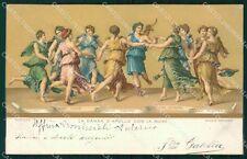 Firenze Città Giulio Romano Danza d'Apollo con le Muse Stengel cartolina KF2863