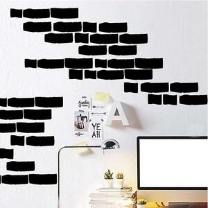 Removable brick stone pattern wallpaper vinyl wall sticker for Brick wall decal mural