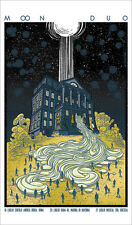 MOON DUO TOUR POSTER LIMITED EDITION GOLD SCREEN PRINT BY SABRINA GABRIELLI