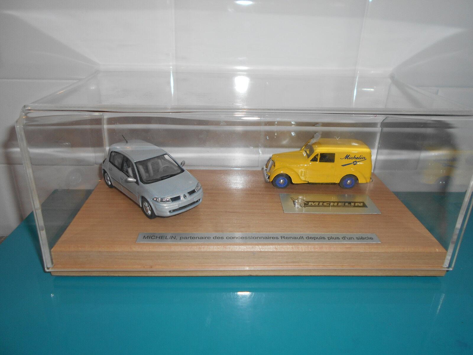 Coffret publicitaire concessionnaires Renault mégane juva Michelin Eligor 1/43