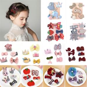5PCS-Kawaii-Kids-Baby-Girl-Hair-Clips-Bowknot-Heart-Crown-Headwear-Hairpins-Gift