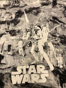 Star Wars Luke Leia Darth Hans T-Shirt Sz 1X Sparkle NEW Womens Black Gray