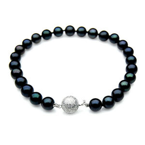 7mm-Japanese-Akoya-Saltwater-Black-Pearl-Bracelet-Pacific-Pearls-Gifts-For-Wife