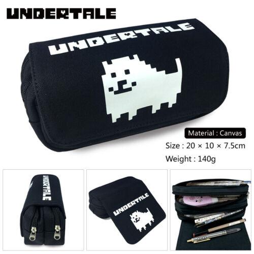 Undertale Sans Canvas pencil case student/'s pen bag Storage bag make up case