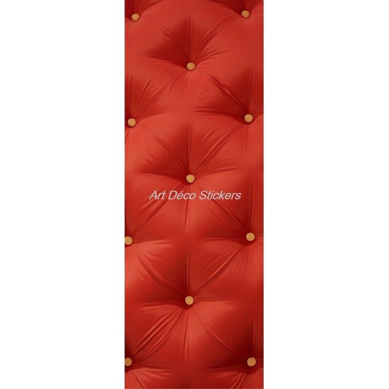 Cartel Póster Formato Puerta Trompa Trampantojo Capitonee Rojo 313 Arte