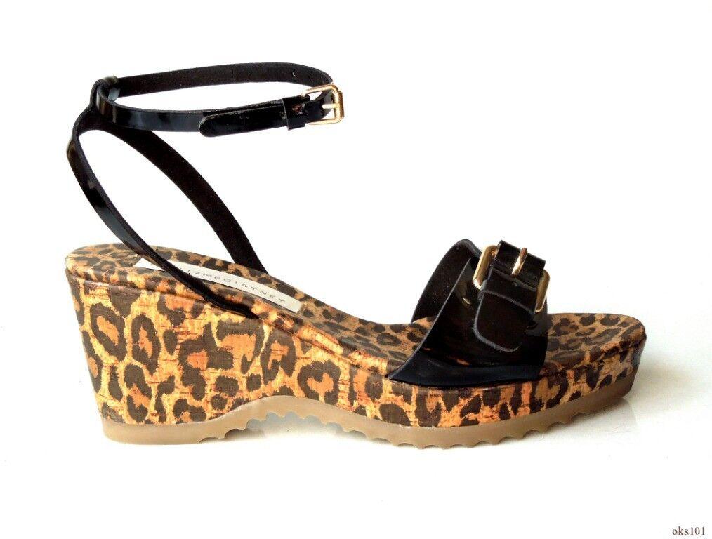 Nuevo  500 500 500 Stella McCartney Negro Vegano abrochado Plataforma Cuñas Sandalias Zapatos 39 9  mejor calidad