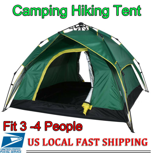 6b89892e3aa Waterproof Automatic Pop up Backpacking Outdoor Camping Hiking 3-4 Man Tent