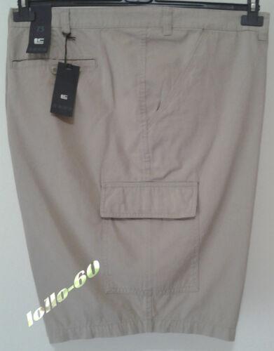 Bermuda uomo taglie forti con tasconi taglia 67 beige Pantalone corto telacanvas