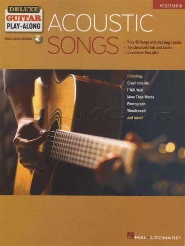 Acoustic Songs Deluxe Guitar Play-Along TAB Music Book//Audio Nirvana Oasis