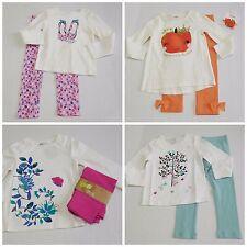 NWT Girls Fall Lot Gymboree Crazy 8 Baby Gap Shirts Leggings sz 3t
