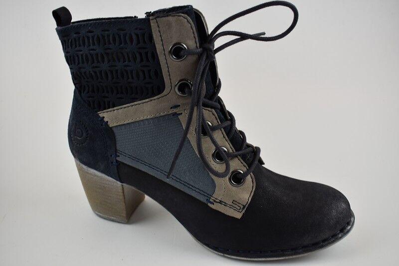 Zapatos especiales con descuento Bugatti Damen Stiefelette Cathy Leder blau/grau in Gr.37