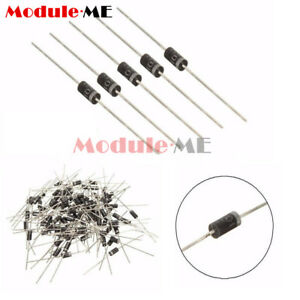 100PCS 1N4001 IN4001 DO-41 1A 50V Rectifier Diodes ModuleMe