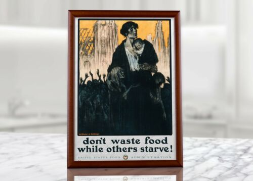WWII USA Military Collectibles Wall Decor WW2 Food Ration Propaganda Poster