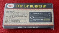 Itt Illinois Industrial Tool 17 Pc. 1/4 Dr. Socket Set