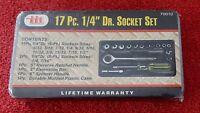 Itt Illinois Industrial Tool 17 Pc. 1/4 Dr. Socket Set