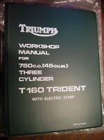 1975-76 Triumph T160, Trident 750, OEM, SHOP BINDER, Original Brown  Paper Wrap