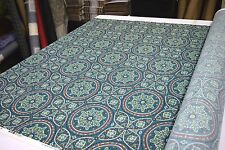 """RICHLOOM ALDEN TEAL OUTDOOR INDOOR UPHOLSTERY FABRIC DWR 54""""W SOLD BY THE YARD"""