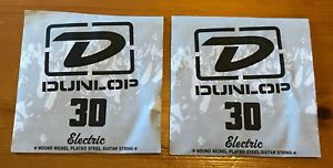 2 X Dunlop Cordes Pour Guitare électrique | .030 Gauge | Blessure Nickel Acier Plaqué-afficher Le Titre D'origine CaractèRe Aromatique Et GoûT AgréAble