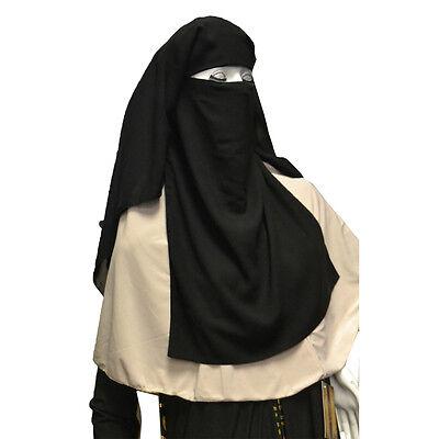 Hayaa THREE X-LARGE Layers Black Saudi Niqab Hijab Islamic Clothing