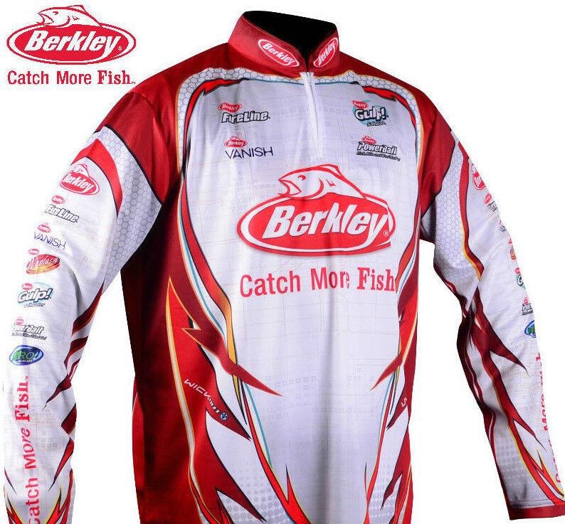 BERKLEY Mens Pro Tournament Long Sleeve FISHING SHIRT - ALL SIZES - SPF 30+