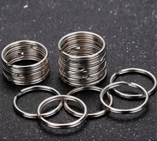 Wholesale Lots Silver Key Rings Chains Split Ring Hoop Metal Loop Accessory 25mm