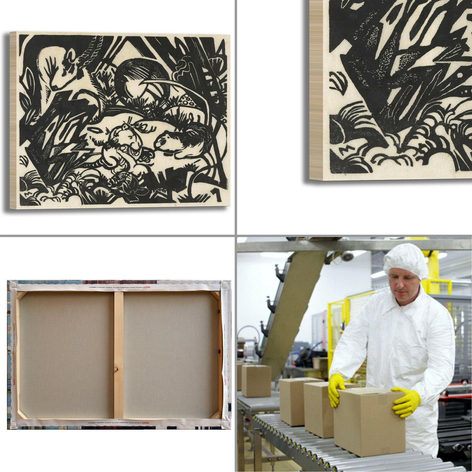 Franz Marc stampa animale leggenda design quadro stampa Marc tela dipinto telaio arRouge o casa f52697