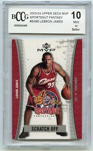 2003-04-Upper-Deck-MVP-Sportsnut-SN90-LeBron-James-Rookie-Card-BGS-BCCG-10-Mint
